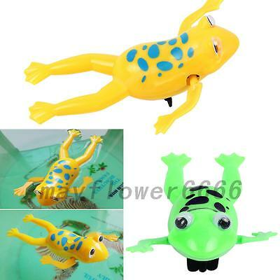 Fun Baby Kid Child Swim Pool Frog Diver Bath Wind-up Clockwork Education Toy