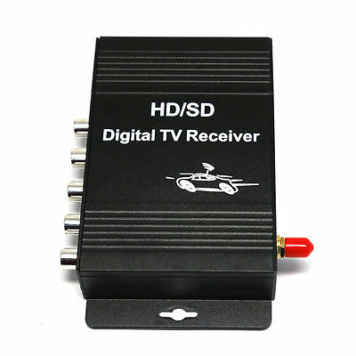HD Car Mobile Digital TV Tuner Receiver Box Freeview Antenna ATSC MPEG-4 Chanal