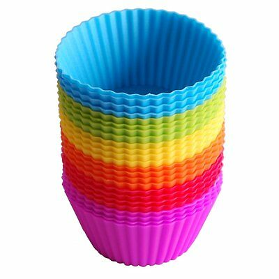 24pcs Reusable Silicone Baking Cups Cupcake Liners Muffin Cups Cake Molds DIY