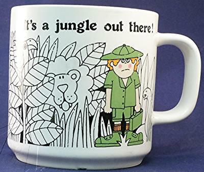 It's a Jungle Out There Coffee Mug Cup White Spot Color Cute