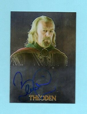 2004 Topps Chrome Lord of the Rings Trilogy Theoden Bernard Hill Autograph Auto