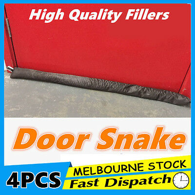 4x Door Snake Draft Stopper Sausage Draught Excluder Cold Weather Homeware