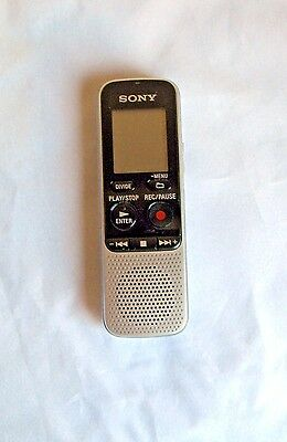 Sony ICD BX-112 Digital Voice Recorder Tested Works Electronics  L1