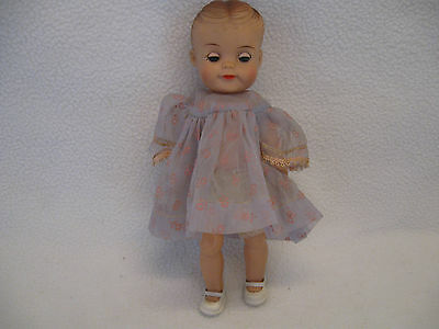 "Vintage Effanbee Fluffy Doll 8 1/4"" with Molded Hair in Original Clothing, Shoes"