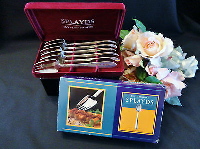 Six Stokes Stainless Steel Splayds in Box