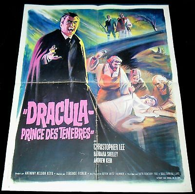 1966 Dracula: Prince of Darkness ORIGINAL FRENCH 66' POSTER Christopher Lee Art!
