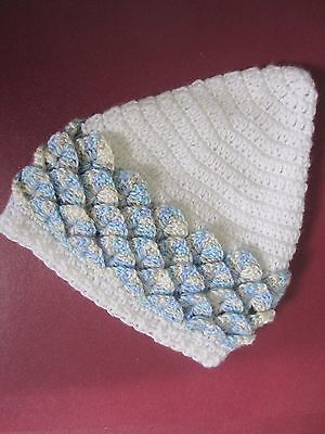 Babies Pixie Bonnet, Hand Crocheted by me