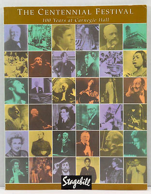 Stagebill The Centennial Festival 1891 to 1991 100 Years at Carnegie Hall