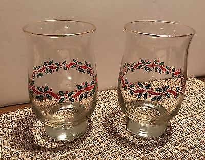 Arby's Vintage Christmas Glasses, Set Of 2