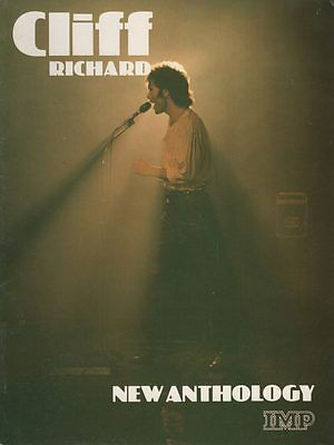 CLIFF RICHARD  New Anthology 18 Song Sheet Music Song Book RARE 1981