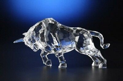 Bull Etched Acrylic Figurine Beautiful Detail