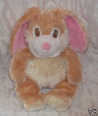 Princess Soft Toys 2004 Bunny Rabbit Tan Cream White Stringy Stuffed Plush  14""