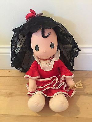 precious moments Red dress plush doll Used