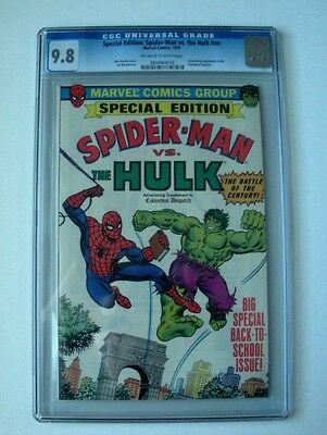 Spider-Man Vs. Hulk Cgc Nm/m  9.8 1979 Marvel Comics, Columbus Dispatch