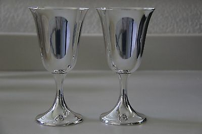 Two Large Sterling Silver Goblets - Gorham 272 - Gorgeous & Heavy  Over 6 Oz Ea