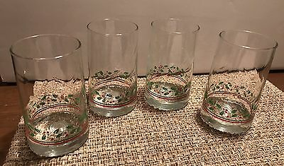 Arby's Vintage Christmas Glasses, Set Of 4