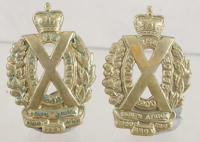 1914-18: The Scottish Horse - Pair Of Collar Badges -1901  Scarce 349A