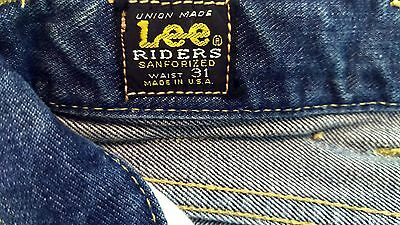 Vintage 60's Lee 101 Rider Red line Jeans 31x28.5 not levis 501 big E XX Single