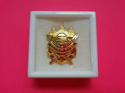 Cambodia Army 911 Special Forces Parachutist Udt Seal Diver Para Frogman Badge.
