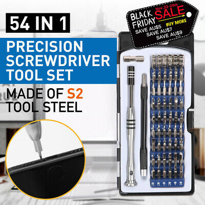 54 In 1 Precision Torx Screwdriver Bit Set Hex Star Tweezer Repair Mini Tool Kit