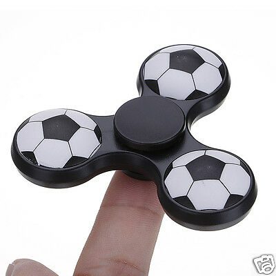 Football Hand Fidget Spinner Tri EDC Focus ADHD Relax Toy Gift For Kid Adults