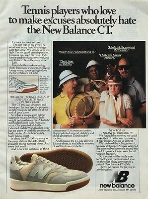 1983 NEW BALANCE CT 600 Tennis Shoes Sophisticated on Court Vintage PRINT AD
