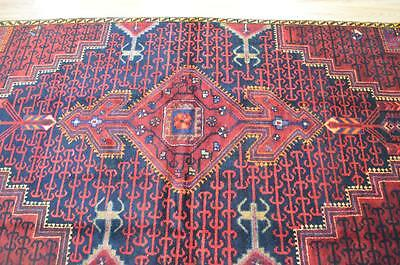 4 x 7 Beautiful Authentic Semi Antique Persian Tribal Hand Knotted Wool Area Rug