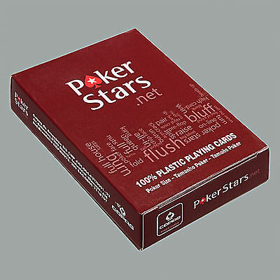 Poker Stars Poker Size Tamanho Poker Frosted Plastic Playing Cards Red -One Deck
