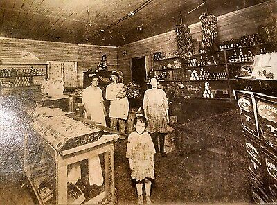 ca 1920 Photo of New Orleans Grocery Store Interior