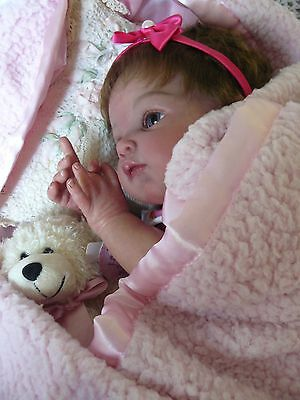 """BEAUTIFUL REBORN BABY """"POPPET"""" by Adrie Stoete...Limited edit. A QUALITY BABY!!"""