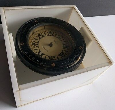 E.S. RITCHIE & SONS BOSTON U.S.A. NEGUS NEW YORK Maritime Compass Antique