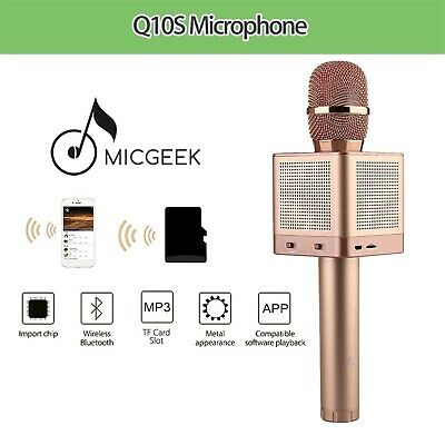 Genuine MicGeek Q10S Wireless Microphone Bluetooth Karaoke Player 4 Speaker