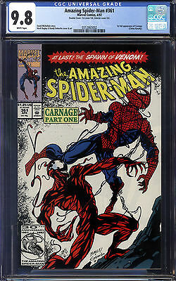 Amazing Spider-Man #361 CGC 9.8 1st Carnage!!! DOUBLE COVER!!!!