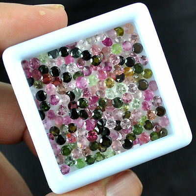 19 Cts/165 Pcs+ Natural Tourmaline Multi Color Untreated Gemstones Wholesale