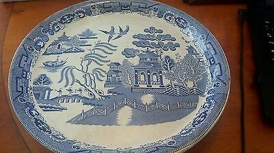Willow pattern cake stand
