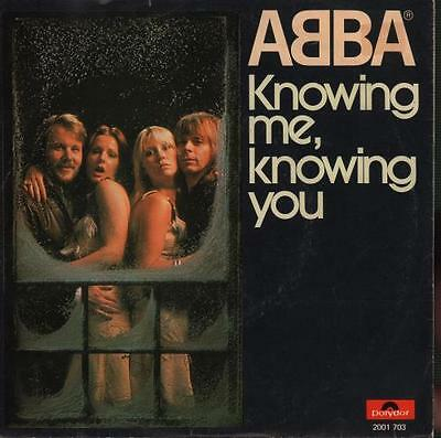 """Abba Knowing Me Knowing You 7"""" vinyl single record Dutch 2001703 POLYDOR 1976"""
