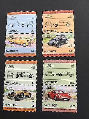 Stamps From SAINT LUCIA 8 IN TOTAL MNH