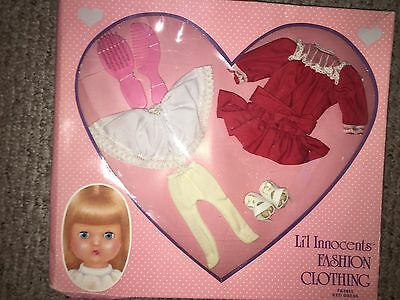 NEW Vintage Effanbee RED DRESS FB3815 shoes tights fashion clothing 1968 doll