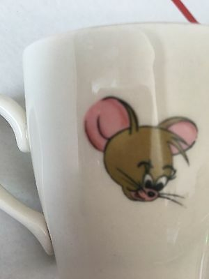 Vintage 1970 Tom and Jerry cartoon bomb mug coffee cup England tea ivory quick!!