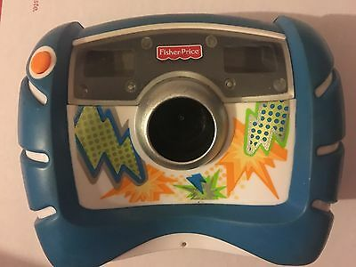 Fisher Price Kid Tough Digital Camera Blue 2010 4X Zoom V2751 V2752 TESTED!