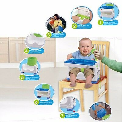 Portable Foldable Baby Toddler Eating Feeding High Chair Highchair Booster Seat