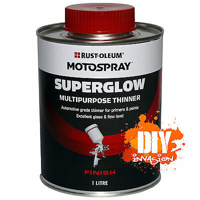 Multipurpose Thinner 1L Motospray SuperGlow High Gloss Marine Paint Industrial