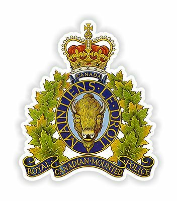 Royal Canadian Mounted Police Coat of Arms Sticker for Bumper Book Tool Box