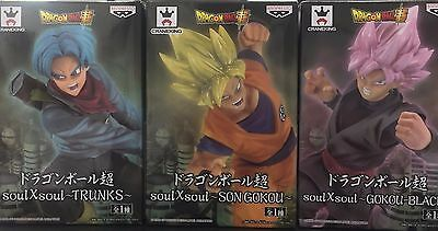 3pcs Dragon Ball Z Super Soul X Soul Figure Trunks Goku Black Son Goku Set