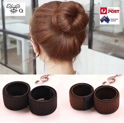 Hair Styling Donut Former Foam French Twist Magic DIY Tool Bun Maker