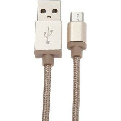 APM Câble Micro USB 2A - Nylon Or - 1m