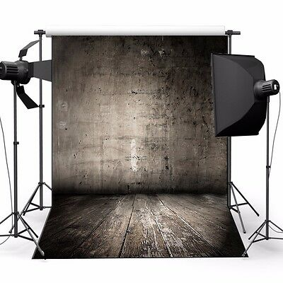 Photo Backdrop Studio Prop Wooden Wall Floor Photography Vinyl Background 5x7FT