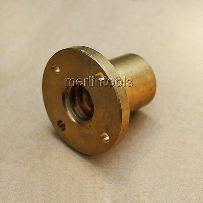 T10x2 - T30x6 Left Hand Flange Trapezoidal Brass Nut ACME Thread for CNC lathe