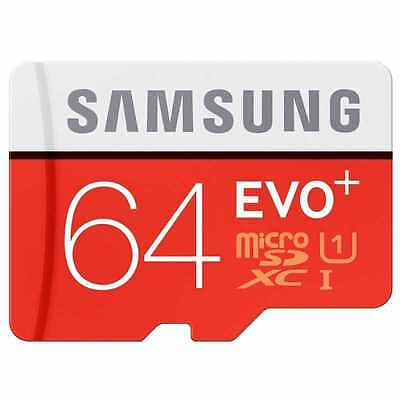 Samsung 64GB EVO plus 80MB/s MicroSD SDXC UHS-I Class 10 Memory Card Adapter