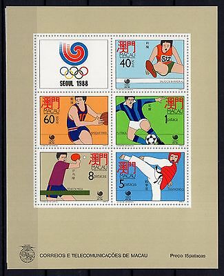 P28844/ Macao / Olympic Games – Bloc Sg # Ms678 Neuf Luxe / Mint Mnh 107 €